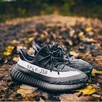 Adidas Yeezy 550 Boost 350 V2 Black-white - -1
