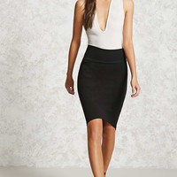High-Low Hem Skirt