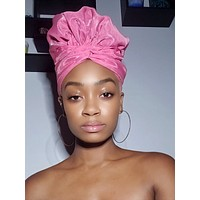 Pink Sistah Slip On Satin Lined Headwrap