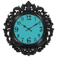 Black & Turquoise Victorian Style Wall Clock | Shop Hobby Lobby