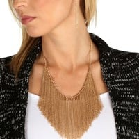 Promo-gold Chain Fringe Necklace Set