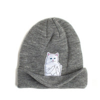 Women Knitted Cat Beanie Hat