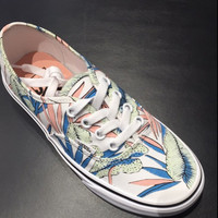 Vans Authentic Tropical Leaves Canvas Casual Sneaker