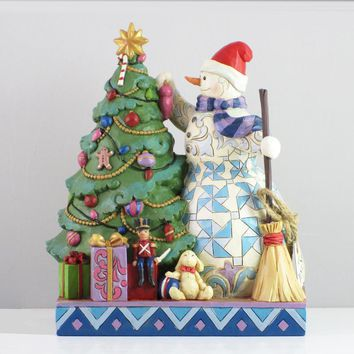 Jim Shore HWC Snowman Trimming Tree – 6002731