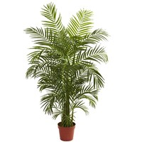 SheilaShrubs.com: 4.5' Areca Palm UV Resistant (Indoor/Outdoor) 5389 by Nearly Natural : Artificial Flowers & Plants