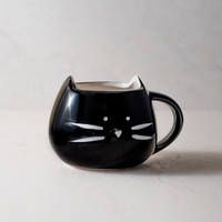 Kitty Black Coffee Mug