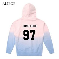 ALIPOP Kpop BTS Bangtan Boys WINGS Album Gradient Color Hoodie Pullover Hoodies Clothes Printed Long Sleeve Sweatshirts WY439