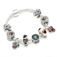 Pandora Charm Bracelet with Tree of life Pendants