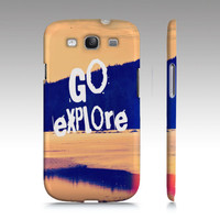 """Samsung Galaxy S3 Cover -   """"Go Explore"""" - $35.00 - Handmade Accessories, Crafts and Unique Gifts by Vintage Skies Photography & Designs"""