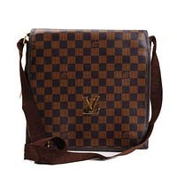 Louis Vuitton LV Woman Men Leather Office Bag Satchel Shoulder Bag Crossbody