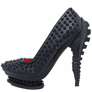 Hades Alternative Shoes Mara Black High Heels