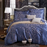 LUXURY Jacquard  Duvet Cover Bed Sheets Pillowcase Set Wedding Bed Linens bedding set Newly