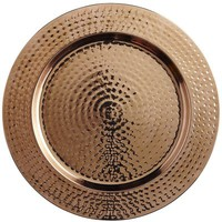 Copper Hammered Charger Plate