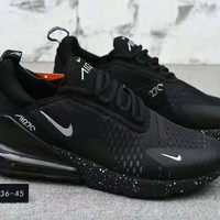 Tagre™ Nike Air 270 autumn and winter new mesh half palm gas movement running shoes F-XYXY-FTQ Black+black starry sky