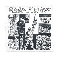 Operation Ivy Men's Plea For Peace Cloth Patch White
