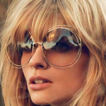 New Elegant Round Wire Frame Sunglasses 7 Colors