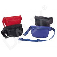 DALIX Nylon Fanny Pack with Three Pockets in Red