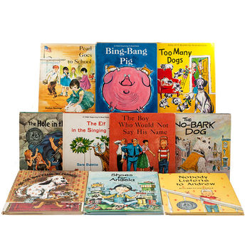 Follett Beginning to Read Books / 1950s and 1960s / Collection of 10 HB with DJs / Children's Books