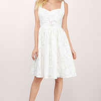Meadow Cut Out Skater Dress
