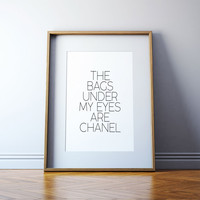 Typographic Print word Quote art print Wall decor Girly quote Typography tumblr Fashionista VOGUE PRINT Fashion illustration queen tumblr