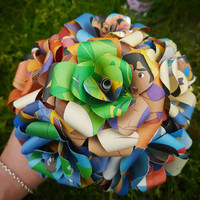 Aladdin Disney Book Bouquet-Book lover gift-Book Bouquet-Book decor- Unique Gift- Bridal Bouquet- Paper Roses-Wedding.