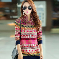 2016 New Fashion thickening basic sweater female pullover turtleneck cashmere Women's sweater Plus Size sweater