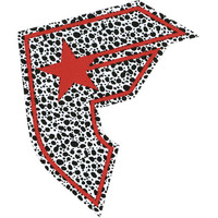 Famous Stars & Straps Dalmation Boh Sticker Black/Red One Size For Men 23603512601
