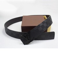 Louis Vuitton LV Men Woman Fashion Smooth Buckle Belt Leather Belt