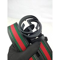 GUCCI fashion hot seller men's and women's casual matching color print belt #4