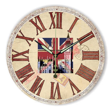 Roman number antique home hours more quite fashion living room decoration large size wall clock modern design Best gift