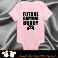 Future Gaming Buddy Baby Clothes, Bodysuit, Baby Shower Gift, Funny Baby Clothes, Baby Boy, Funny Baby Clothing, Baby Gamer, Gamer Baby