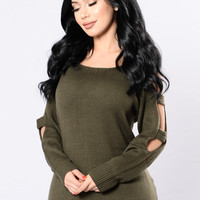 Cut Deep Sweater - Forest Green