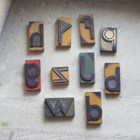 French Rubber Stamps // 1950 Alphabet Letters // You pick ONE