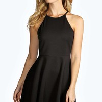 Megan Cutaway Neckline Skater Dress