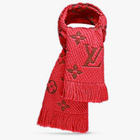 LV Louis Vuitton Winter Retro Cashmere Cape Scarf Scarves Shawl Accessories Red