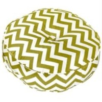 """20"""" Round Floor Pillow - Zig Zag fabric - Village Green.- Greendale Home Fashions-For the Home-Pillows, Throws & Slipcovers-Pillows"""