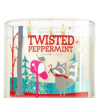 3-Wick Candle Twisted Peppermint
