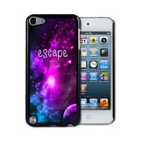 IPod 5 Touch Case Thinshell Case Protective IPod 5G Touch Case Shawnex Escape Galaxy Hipster Quote