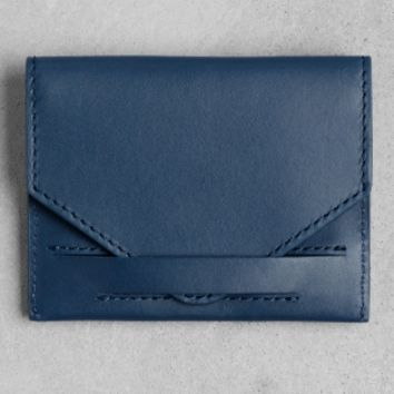 Leather Card Holder | Navy | & Other Stories