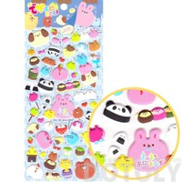 Chubby Bunny Bear Cat Panda Animal Spongy Stickers for Scrapbooking