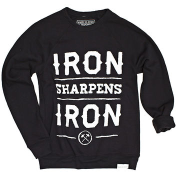 Iron Sharpens Iron Black Crewneck Sweatshirt