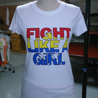 Fight Like A Girl Graphic Tee For Women And Teens