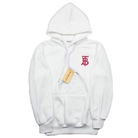 Balenciaga autumn and winter trend embroidery letter hooded loose hoodie White