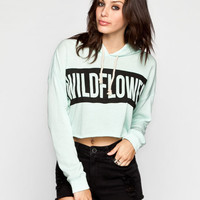 Element Wildflower Twisted Womens Crop Hoodie Mint  In Sizes