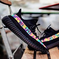 ADIDAS YEEZY 350 BOOST X BAPE AAPE Shoes Colorful Camouflage Line SHOES SPORTS SNEAKERS