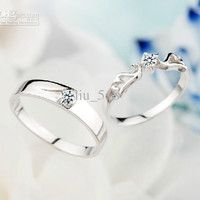 The couple married on the ring 925 sterling silver rings