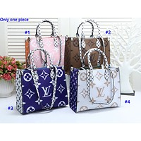 LV fashion hot seller lady print patchwork color casual shopping shoulder bag
