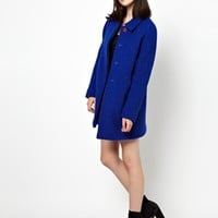 Boutique by Jaeger Wool and Alpaca Boucle Mix Coat at asos.com