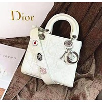 Dior Fashion new versatile patent leather badge wearing a shoulder bag handbag shoulder bag 1#