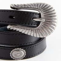 Ridged Western Belt | Urban Outfitters
